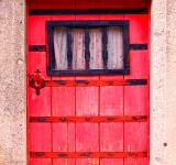 Free Photo - Old red door on a stone building