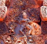 Free Photo - Pink stone carvings of Banteay Srei