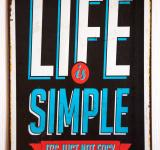 Free Photo - Vintage Metal Sign Life is simple