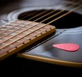 Free Photo - Guitar close up with pick
