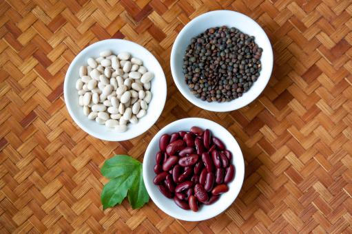 Red beans, white beans and lentils - Free Stock Photo