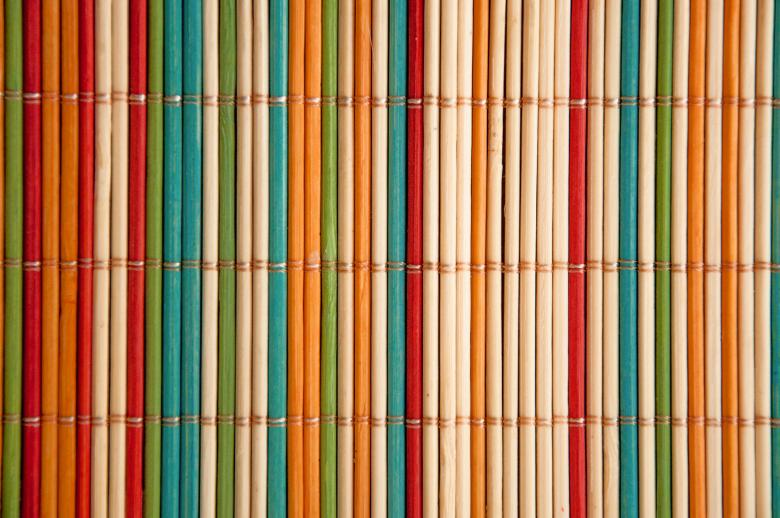 Free Stock Photo of Coloured bamboo mat Created by Merelize