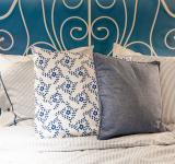 Free Photo - bed with blue linen in the bedroom