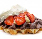 Free Photo - Waffle with strawberries