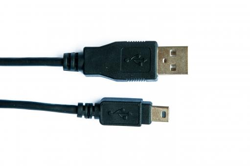 USB cable isolated on white - Free Stock Photo