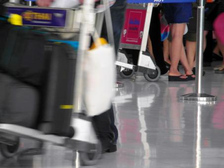 Airport Passengers Walking - Free Stock Photo