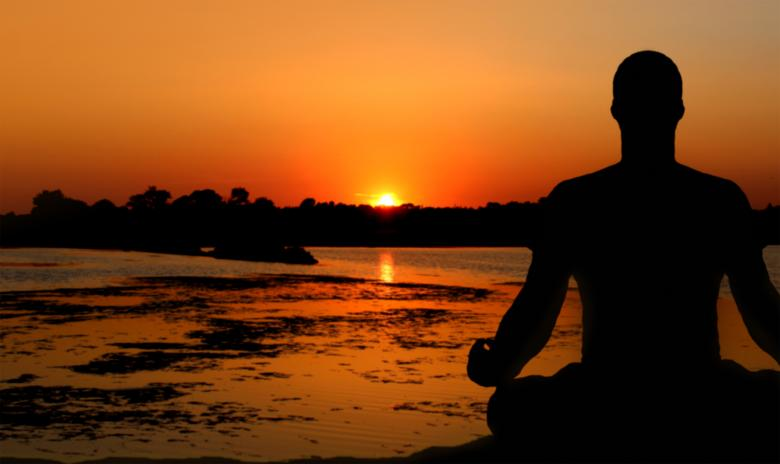 Free Stock Photo of Meditation at Sunset Created by Jack Moreh