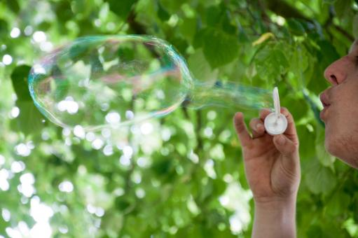 Blowing bubbles - Free Stock Photo