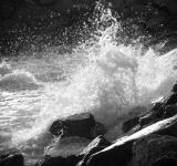 Free Photo - Waves Crashing Against Rocks