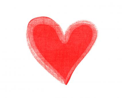 Watercolor red heart icon - Free Stock Photo