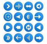 Free Photo - Arrow icon vector set
