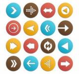 Free Photo - Arrow icons vector set