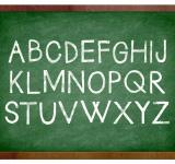 Free Photo - Alphabet chalk on school chalkboard
