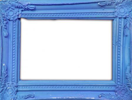 Blue classic photo frame - Free Stock Photo