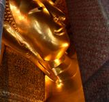 Free Photo - Reclining Buddha gold statue face