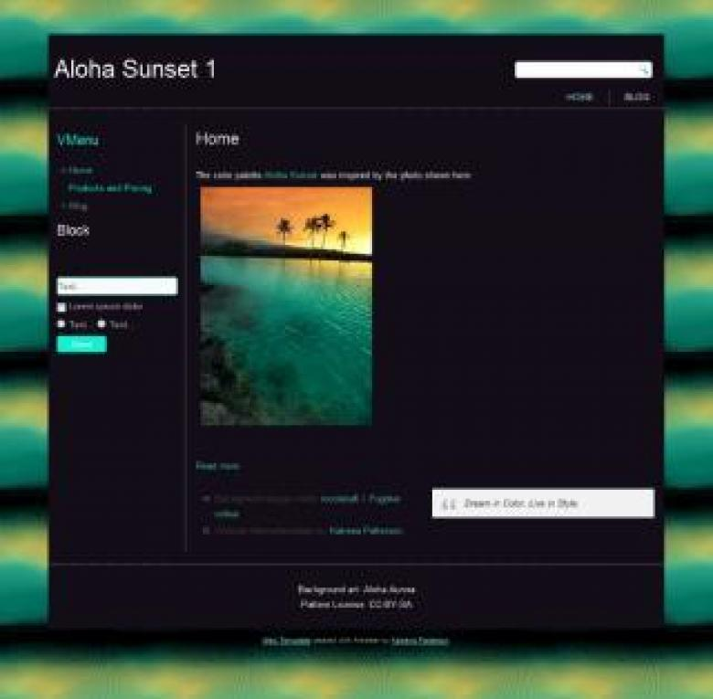 Free Stock Photo of Aloha Sunset Created by Katrena Patterson