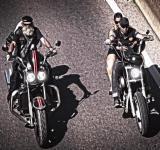 Free Photo - Two generations of bikers riding chopper