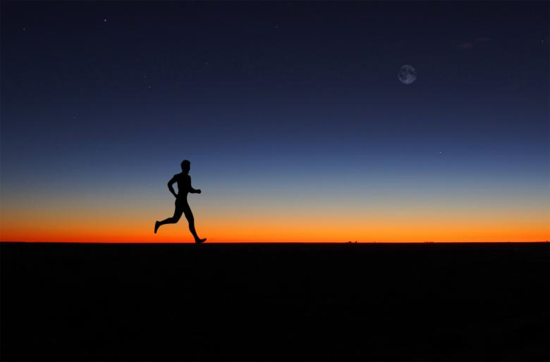 Free Stock Photo of Man running alone at dawn Created by Jack Moreh
