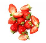 Free Photo - Strawberry fruits on white