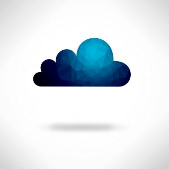Creative digital cloud background - Free Stock Photo