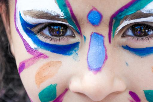 Girl with face painting - Free Stock Photo
