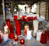 Free Photo - Prayer candles burning in lourdes