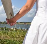 Free Photo - Newlyweds holding hands
