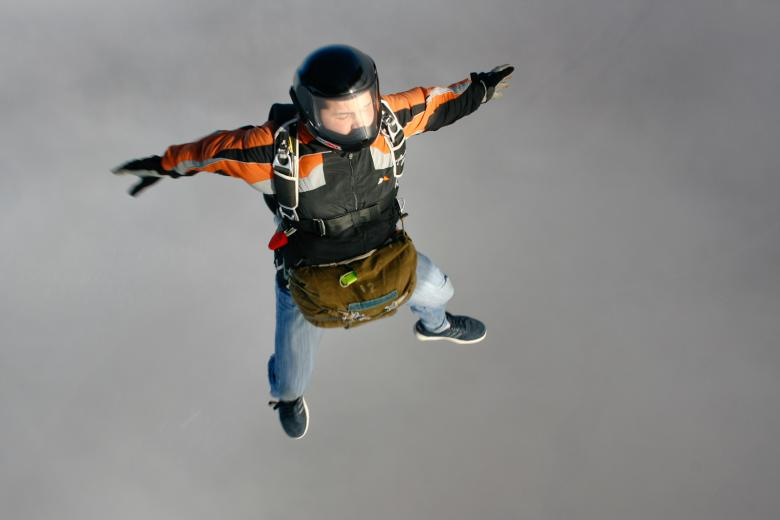 Free Stock Photo of Skydiver Created by skydie