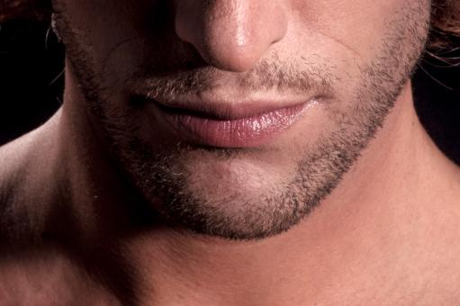 Close up of man lips, beard and face - Free Stock Photo