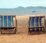 Free Photo - Deckchairs on a Tropical Beach