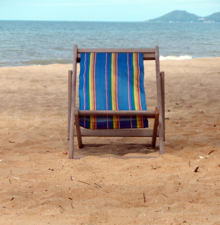 Free Stock Photo of Deckchair on a Tropical Beach Created by Ivan