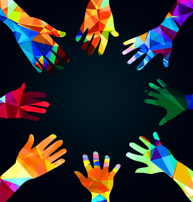 Free Stock Photo of Joining hands together - Union concept Created by Jack Moreh