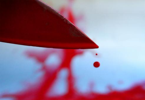 Bloody knife with blood drops - Free Stock Photo