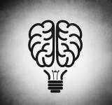 Free Photo - Brain as black lightbulb