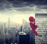 Free Photo - Young boy dreams of being a superhero