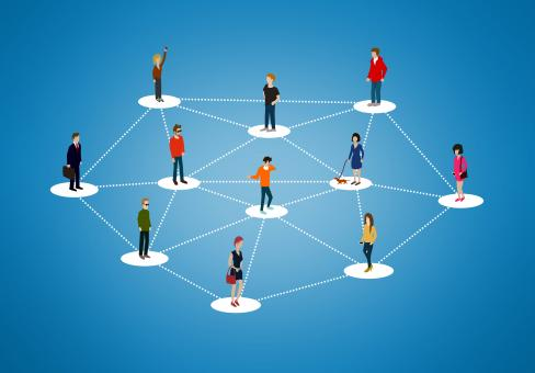The social network - People networking - Free Stock Photo