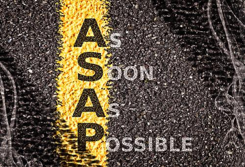 ASAP - As Soon As Possible - Free Stock Photo