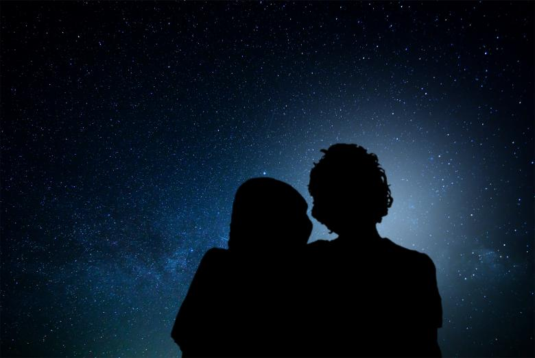 Romantic couple watching the stars - Free Portrait Stock Photos