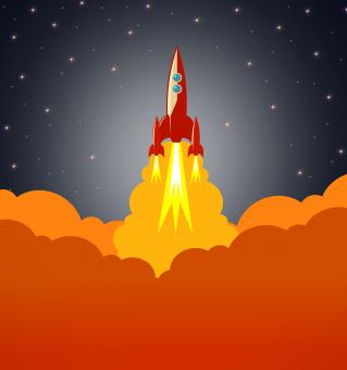 Space rocket launching - Free Stock Photo