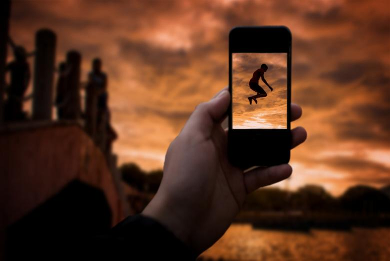 Free Stock Photo of Taking a photo with smartphone Created by Jack Moreh