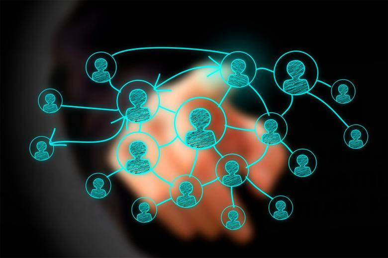 Free Stock Photo of Businessman drawing social network on virtual screen Created by Jack Moreh