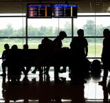 Free Photo - Passenger Silhouettes at Airport