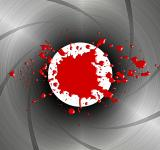 Free Photo - Blood spatter down the barrel of a gun - James Bond-style