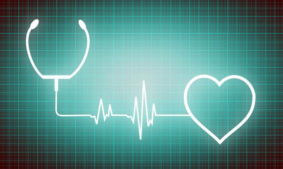Heart and stethoscope - cardiology and medicine icons - Free Stock Photo