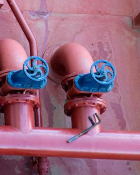 Valves and Pipeline from Tank - Free Stock Photo