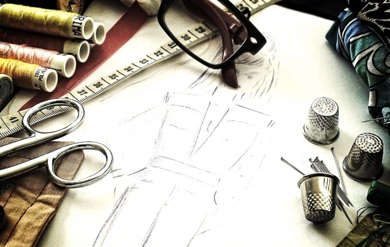 Free Stock Photo of Fashion design - The working tools of a couturière Created by Jack Moreh