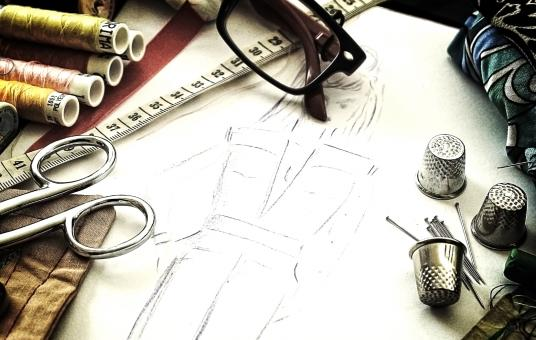 Fashion design - The working tools of a couturière - Free Stock Photo
