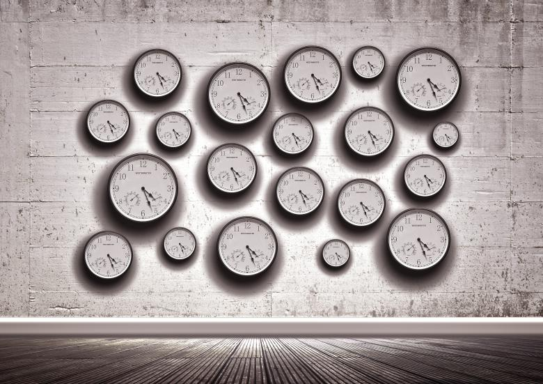 Free Stock Photo of Clocks in the wall - Time concept Created by Jack Moreh