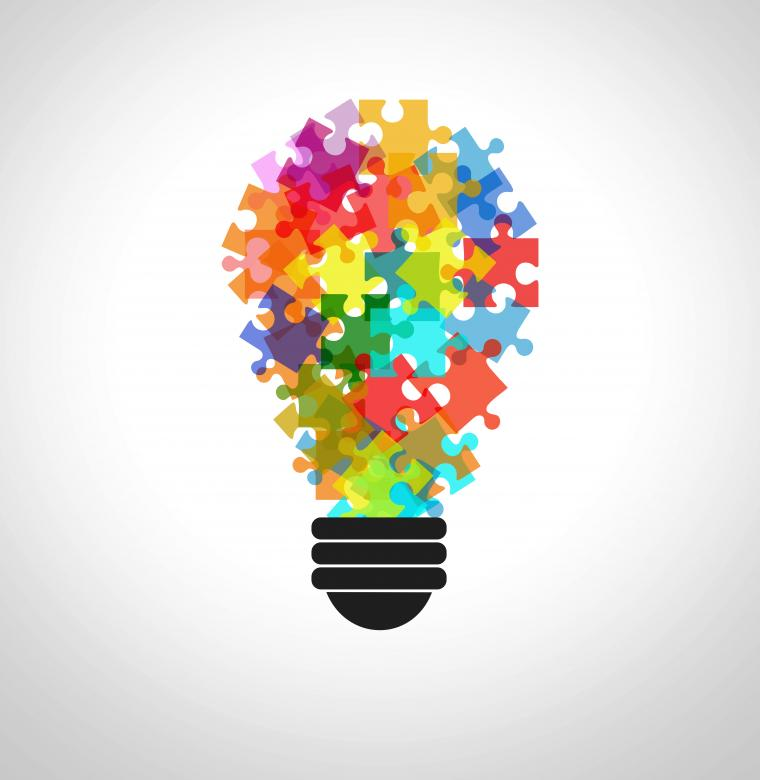 Free Stock Photo of Puzzle in a lightbulb - Problem solving concept Created by Jack Moreh