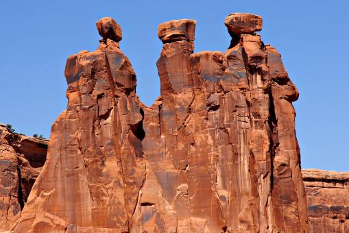 Three Gossips at Arches National Park - Free Stock Photo